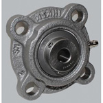 Round Flanged Unit with Spigot Joint, Cylindrical Hole Shape with Set Screw, MUCFC Type