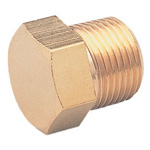 Hexagonal Cap Fitting - Threaded, NC Series (Asoh)