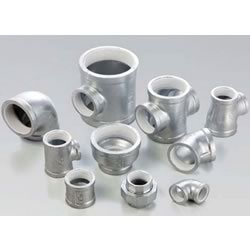 Adapter Cross Pipe Fitting - Female, Cast Iron with Zinc Plating (CK Metals)