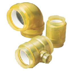 45 Degree Elbow Pre-Seal Fitting for Fire Extinguishing Pipes - HB Gold Underground (CK Metals)