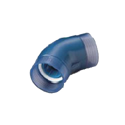 45 Degree Elbow Pre-Seal Transparent PC Core Fitting - Normal Type, Lining Pipe Connection, TPC Series (CK Metals)