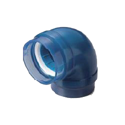 Adapter Elbow Pre-Seal Transparent PC Core Fitting for Connection of Lining Steel Pipes - Normal Type, TPC Series (CK Metals)