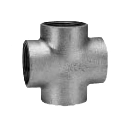 CK Fittings - Screw-in Type Malleable Cast Iron Pipe Fitting - Cross with Band