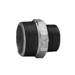 Nipple Adapter Fitting for Galvanized Cast Iron Pipe -Threaded (CK Metals)