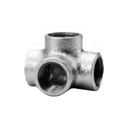 Cross Elbow Fitting for Galvanized Cast Iron Pipe - Threaded (CK Metals)