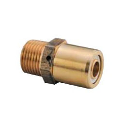 Multi-1 Aluminum 3-Layer Tube System Male Adapter m (G Thread)