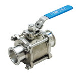 Rosette Sanitary 3-Piece Ball Valve (ZCSS-F) (Fuji Special)