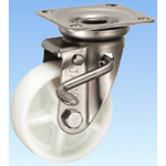 Stainless Steel Caster, Swivel (with Double Stopper) JAB Type, Size: 100 mm