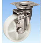 Stainless Steel Caster, Swivel (with Double Stopper) JAB Type, Size: 130 mm
