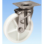 Stainless Steel Caster, Swivel (with Double Stopper) JAB Type, Size: 200 mm