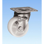 Stainless Steel Caster, Swivel (with Double Stopper) JAB Type, Size: 75 mm