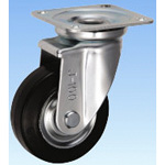 Medium-Load Caster, Swivel, J Type, Size: 100 mm