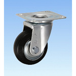 Medium-Load Caster, Swivel, J Type, Size: 75 mm