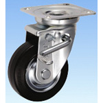 Medium-Load Caster, Swivel (with Double Stopper), JB Type, Size: 100 mm