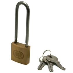 Stainless Steel Shackle Long W Lock Padlock, Different Chord Length Number (Hilogik)