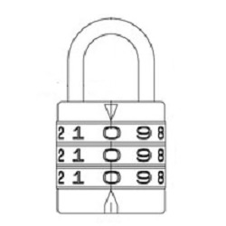 Round Code Lock and Identical Key (Hilogik)