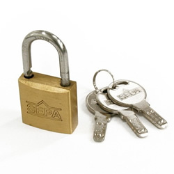 Dimpled Padlock, Different Key Number (Hilogik)