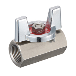 Stainless Steel Ball Valve BSS Series Butterfly Handle Type