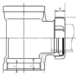 Tacker 90 Degree Y-Shape Pipe Fitting - Female/Female (Hitachi Metals)