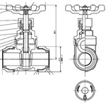 Mechanical Fitting Gate Valve for Stainless Steel Piping