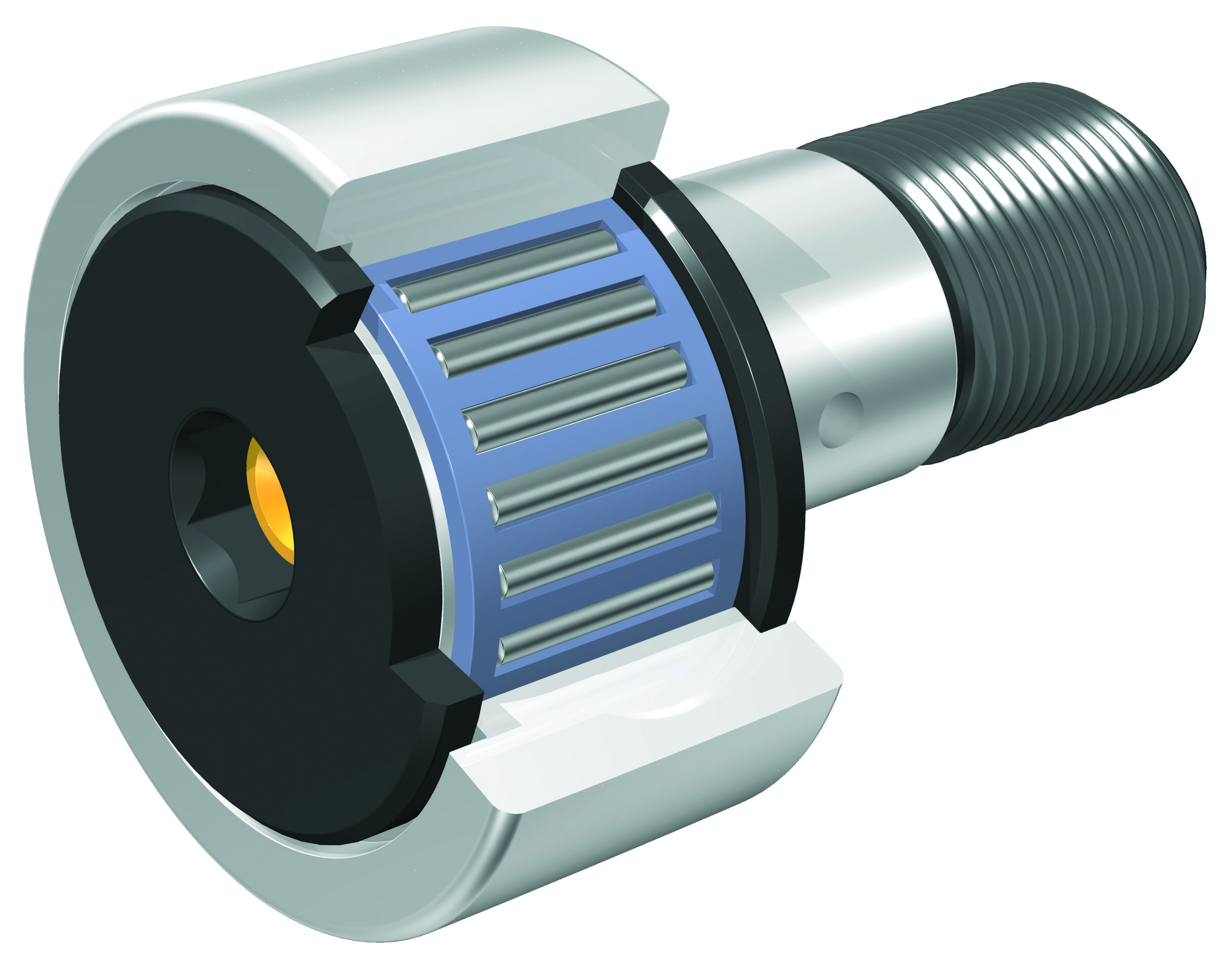 IKO - Solid Eccentric Stud Type Cam Followers With Cage/With Hexagon Hole - Sealed type
