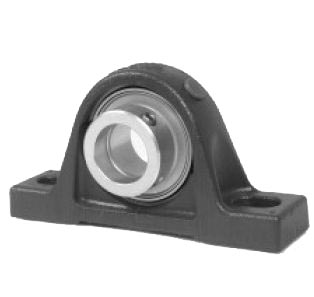 Plummer block housing units LASE, cast iron housing, radial insert ball bearing with eccentric locking collar, L seals