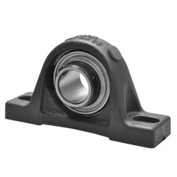 Plummer block housing units PASEY, cast iron housing, radial insert ball bearing with grub screws in inner ring, P seals