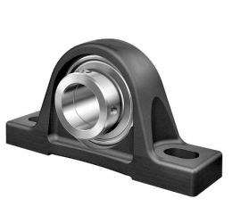 Plummer block housing units RASE, cast iron housing, radial insert ball bearing with eccentric locking collar, R seals