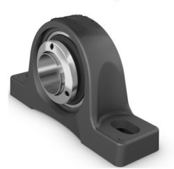 Plummer block housing units RASEA, cast iron housing, radial insert ball bearing with adapter sleeve, R seals