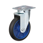 Low Starting Resistance Caster, LR-WJ Type, Rubber Wheel, with Swiveling Fittings