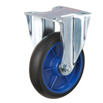 Low Starting Resistance Caster, LR-WK, with Rubber Wheel, with Fixed Hardware