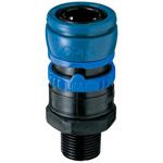 Joplax W Series (for Use with water Pipes), Socket (Fluorine Rubber Specification), Male Thread Type