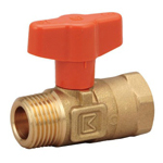 Brass-Made General Purpose 10K Ball Valve Tapered Male Threading x Tapered Female Threading (T-Shaped Handle)