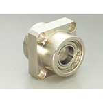 Bearing Holder Set, Spigot Joint Double Type with Retainer Ring, Square Shape (Stainless Steel), DSIS