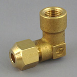 Push-Expansion Fitting, Male Threaded Elbow Connector