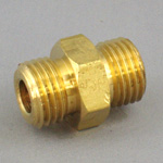 Hex Nipple Pipe Fitting - G Threaded, Brass (Koyo)