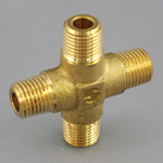Cross Pipe Fitting - Male, Threaded, Brass (Koyo)
