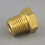 Hex Plug Pipe Fitting - Male, Threaded, Brass (Koyo)