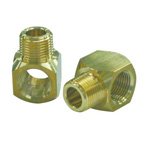 Tee Socket Pipe Fitting - Female/Female/Male, Brass, No. 25 Series (Kurita)