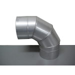 Stainless Steel Duct Fitting 90° Section Bend (Kurimoto)