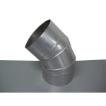 Stainless Steel Duct Fitting 45° Section Bend (Kurimoto)