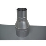 Stainless Steel Duct Fitting Reducer (Insert on Both Sides Size) (Kurimoto)