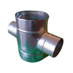 Stainless Steel Duct Fitting Cross Pipe (Kurimoto)