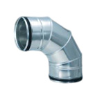 F-Ring Spiral Duct Fitting 90° Section Bend