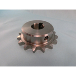 Stainless Steel Sprocket, 40B Type, Semi F Series, Shaft Holes Already Established (New JIS Key)