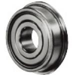 Low Dust Raise Greased Ball Bearings Double Shielded with Flange