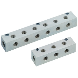 Manifold Blocks - Pneumatic, Outlets 2 Sides, 2 Inlets, Vertical / Horizontal Mounting