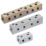 Manifold Blocks - Hydralulic/Pneumatic, Two Circuits, Outlets 3 Sides, Vertical / Horizontal Mounting