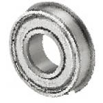 Deep Groove Ball Bearing - Double Shielded, Retaining Ring Flange (Misumi)