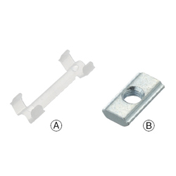 Post-Assembly Insertion Nut / Stopper Set -For HFS5 Series Aluminum Extrusions-